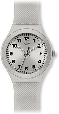 Swatch YGS4032 - Reloj analógico de Cuarzo para Mujer con Correa de plástico, Color Plateado