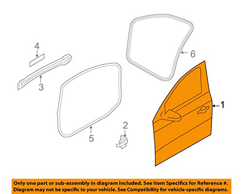 Audi OEM 09-16 Q5 Front Door-Shell Frame Panel Right ()