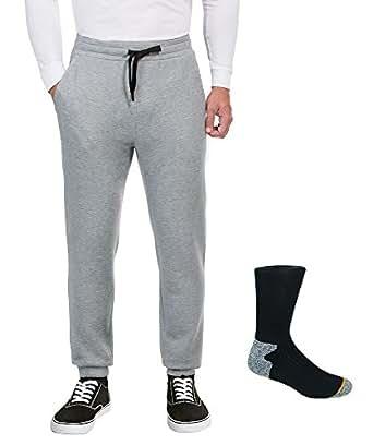 32 Degrees Weatherproof Men's Performance Fleece Pant, XX-Large, Heather Gray