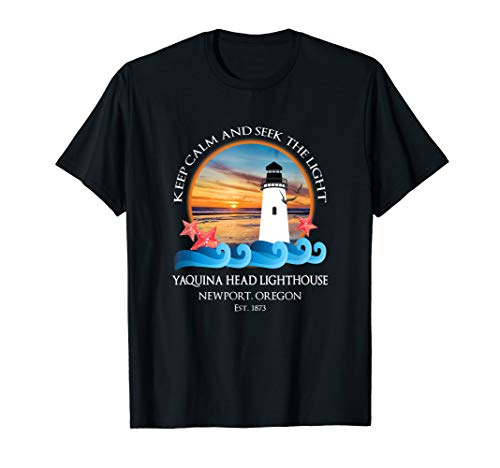 (Yaquina Head Lighthouse T Shirt Newport Oregon Coast)