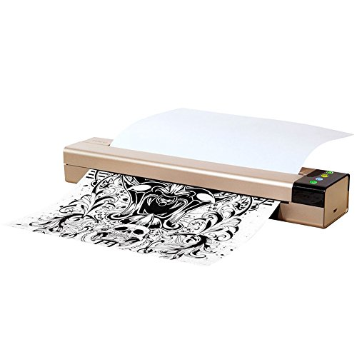 (Tattoo Transfer Stencil Machine, Portable Office Mini Thermal Copier Printer Connected Phone Computer)