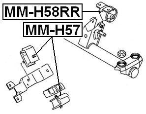 Mr150341 Mr150341 Front Engine Mount For Mitsubishi