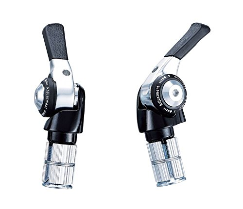 microSHIFT BS-A09 TT Bar End Double/Triple 9 speed Shift Levers Road Bicycle Derailleur Compatible for (Bar End Shift Levers)