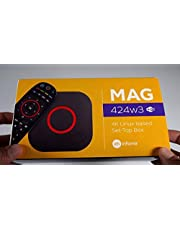 2020 New Infomir MAG424w3 UHD Linux Set-Top Box 4K Support 1GB/8GB with Bonus Universal Luminous Remote That Works with All MAG Boxes and Samsung & LG TV