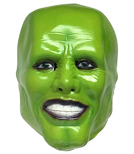 The Mask Jim Carrey Latex Masks for Cosplay Party Green]()