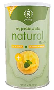 Genisoy Natural Soy Protein Powder, 16 Fluid Ounce (Package May Vary)