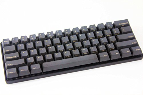Mechanical Keyboard - KBC Poker 3 - Black Case - PBT Keycaps - Cherry Mx-Clear [Metal Casing]