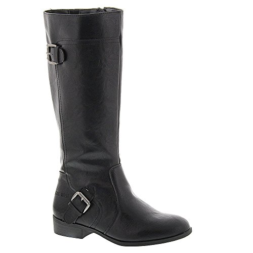 9 West Girls Sookie Black Synthetic Boots 1 M US Little Kid (Boots West Rubber Nine)