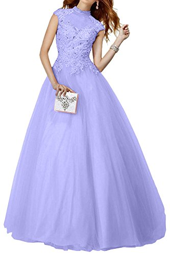 2018 Langes Charmant Lilac Ballkleider Bodenlang Rosa Abiballkleider Partykleider Abendkleider Damen Neu Spitze waU4q