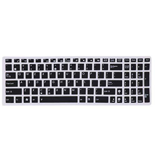 Saco Chiclet Keyboard Skin for Asus A555LF-XX191T (A555L) 15.6-inch Laptop (Core i3 4005U/8GB/1TB/Windows 10/Nvidia GeForce 930M Graphics), Dark Brown-Plastic
