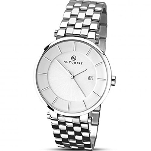 Mens Accurist Stainless Steel Bracelet Watch 7091