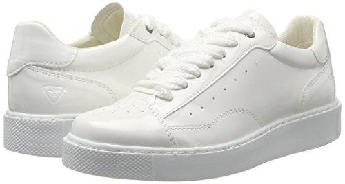 Para Zapatillas Tamaris Blanco white Patent Mujer 23672 wPxEqH7