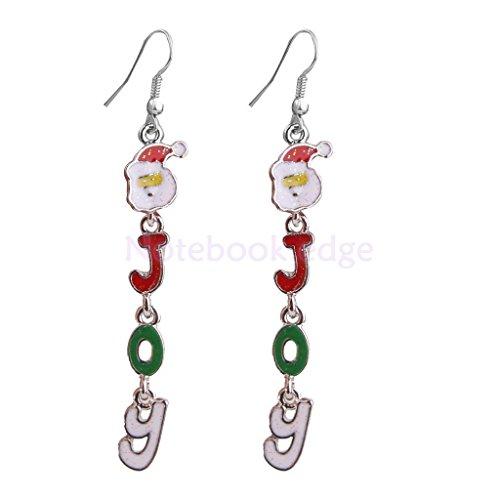 Elegant Cute Alloy Santa Claus Pattern Ear Stud Earrings Jewelry Gift Party (Santa Earring Pattern)