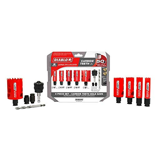 - Freud DHS09SGPCT Carbide Tipped General Purpose Set (9 Piece)