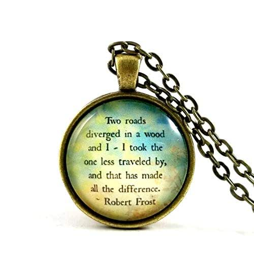Amazon.com: Robert Frost Quote The Road Less Traveled Two ...