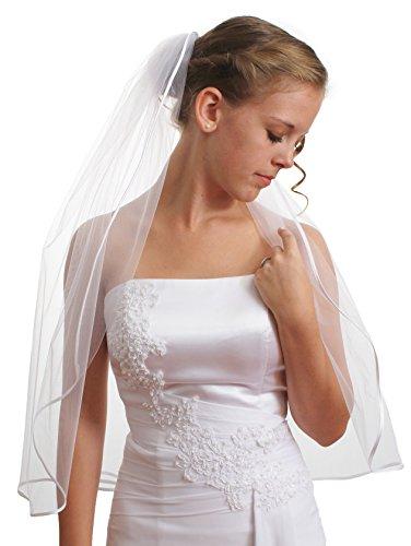 SparklyCrystal Women's Wedding Veil 1 T 1/8