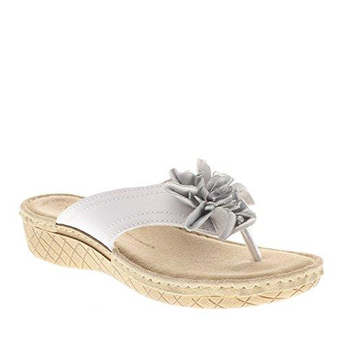 Flexus Kvinna Darinka Sandaler Vitt Läder