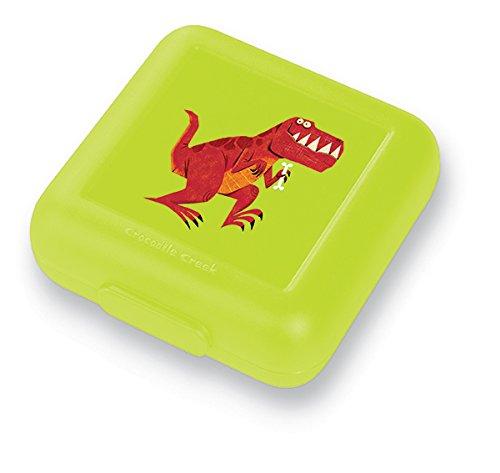 Crocodile Creek Kids Eco Reusable Dinosaur T-Rex Sandwich Keeper, Green