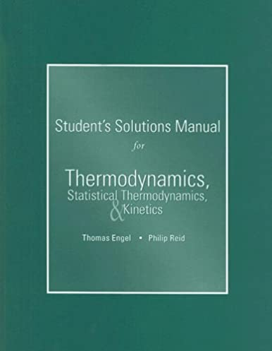 student s solutions manual for thermodynamics statistical rh amazon com Student Solution Manual NHTSA Student Manual