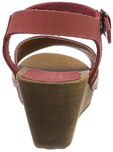 para Mujer Sandal con Wedge Pulsera Red Othenia Rojo Sanita Sandalia 4 Flex xq07gU8