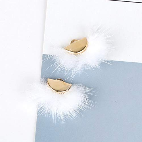Lindsie-Box - 28x20mm 10 Color Mink Hair Fur Fan Shape Tassel Charm Pendant for DIY Earring Jewelry Findings Making