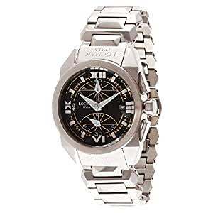 Locman Men's Black Dial Stainless Steel Band Watch - 241851