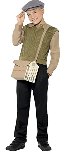 [Boys Evacuee Kit WW1 WW2 1940's Wartime War Ve Day D-Day Costume Age 4-6] (Evacuee Costume Ww1)