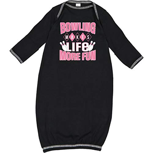 - inktastic - Bowling Makes Life More Fun Newborn Layette Black 2f320
