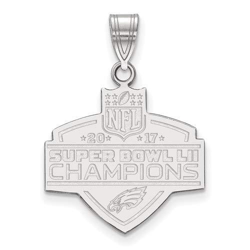 Sterling Silver Philadelphia Eagles Super Bowl LII Champions Large Pendant