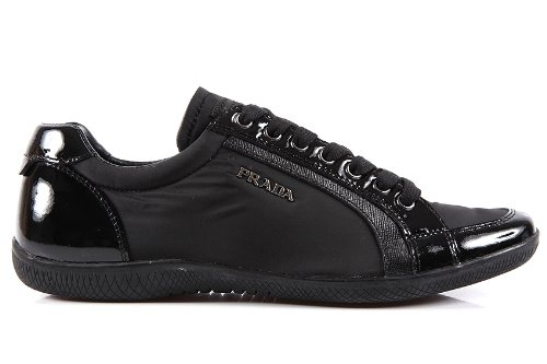 super specials fashion styles amazon Prada women's shoes trainers sneakers in Nylon black UK size ...
