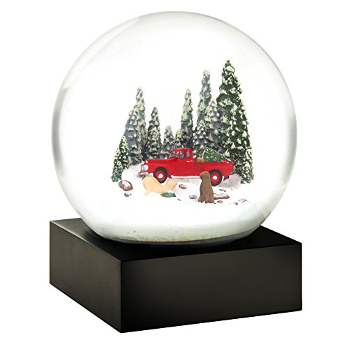Red Truck Dogs Christmas Tree Snow Globe by CoolSnowGlobes®