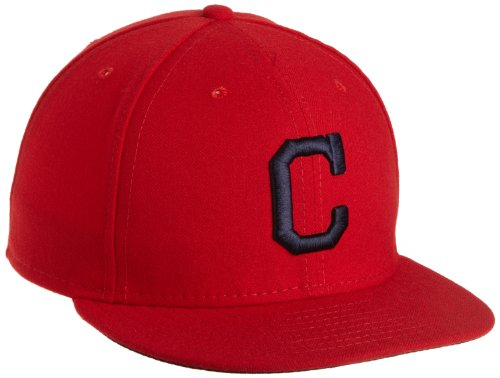 MLB Cleveland Indians Authentic On Field Alternate 59Fifty Fitted Cap, Scarlet, 7.125