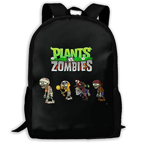 Sunmoonet Backpack for Men Women,Plants Vs Zombies Backpacks Hiking Laptop Backpack Travel Large Shoulder Bags for School Shopping Outdoor Sports