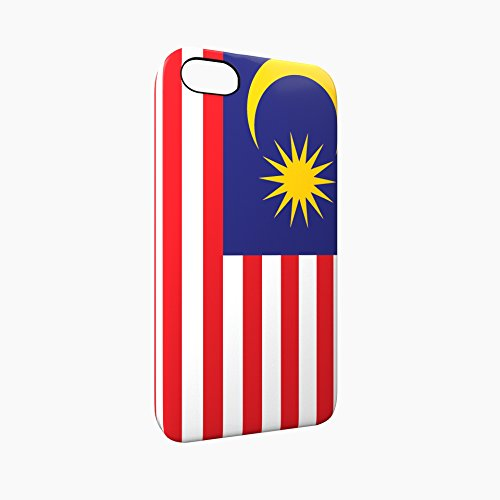 Flag of Malaysia Glossy Hard Snap-On Protective iPhone 5 / 5S / SE Case Cover