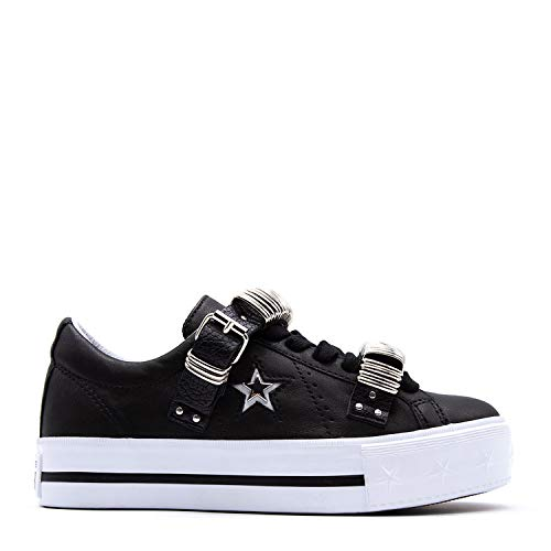 Ltd Platform 562922c 35 Star Sneakers Leather Nero One Nero Converse Bianco 8I7qXz