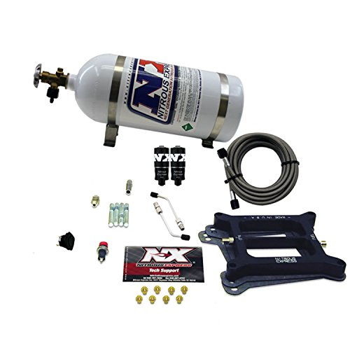 Nitrous Express 40040-10 4150 100-200 HP 4-BBL Hitman Plate System with 10 lbs. - Nitrous System Plate