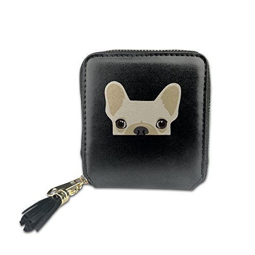 Women's Funny French Bulldog Print PU Leather Coin Mini W...