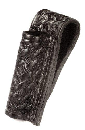 Snap Belt Loop (HWC Leather Mini Maglite Mag BASKETWEAVE Black Flashlight Case Holder Holster Open Top with Snap & Belt Loop)