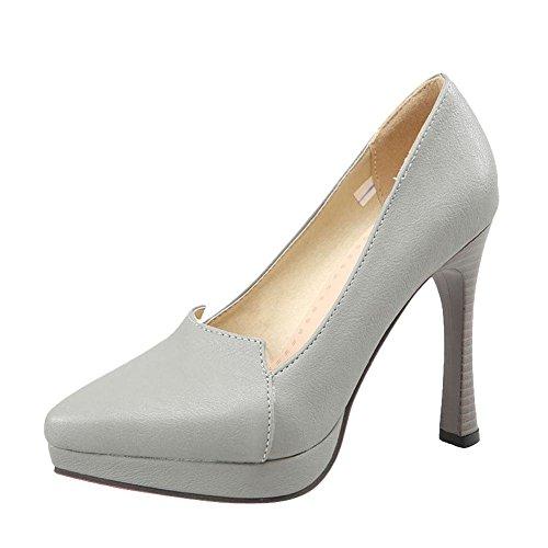 d6985348b20f Mee Shoes Damen modern reizvoll populär OL-stil Geschlossen spitz  Trichterabsatz Plateau Pumps Grau