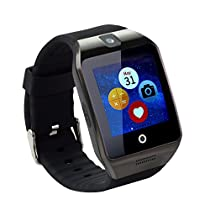 TopePop Touch Screen Smart Watch with Camera Bluetooth Wrist Watch Support SIM Card for Android Smart Phones (black)