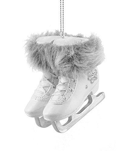 Snowflake Ice Skates with Fur Hanging Christmas Ornament (Ice Decoration Christmas Tree Skate)