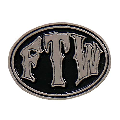 Licensed Originals Inc., FTW Oval Lapel Pin - Heavy Pewter Biker Artwork Brooches Badge Buttons Pins ()