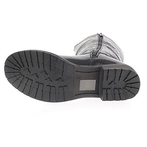 Chaussmoi 4cm Apparition Crocus En Noir Bottes Bottes Haute Bottines