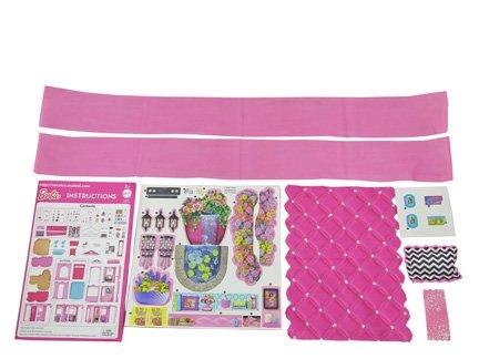 Barbie Mattel Dreamhouse - Replacement Stickers, Labels, Instructions, Blanket, Pillow, Towel & Drapes