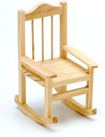 Wood Rocking Chair Unfinished 3.15 x 3.5 x 5.5 inches Fairy Garden Wedding Cake 10