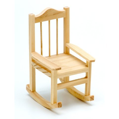 25 Wood Rocking Chair Unfinished 3.15 x 3.5 x 5.5 inches Fairy Garden Wedding Cake (25)