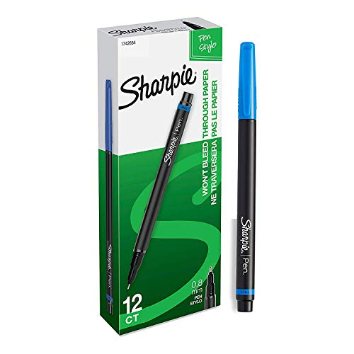 2 Sets of Fine Point Blue Sharpie Pens,12-Count Total of 24 Pens by Sharpie (Image #1)