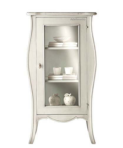 Artigiani Veneti Riuniti Mobile vetrinetta bianca in legno ...