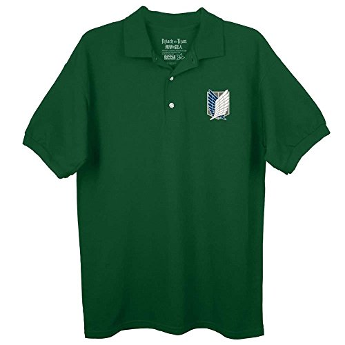 Attack On Titan Survey Corps Logo Forest Green Poloshirt