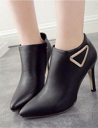 Negro Eu39 us8 Casual Botas Puntiagudos Mujer Semicuero Uk6 Stiletto Black Tacón Xzz Zapatos De Cn39 7wzqBUB